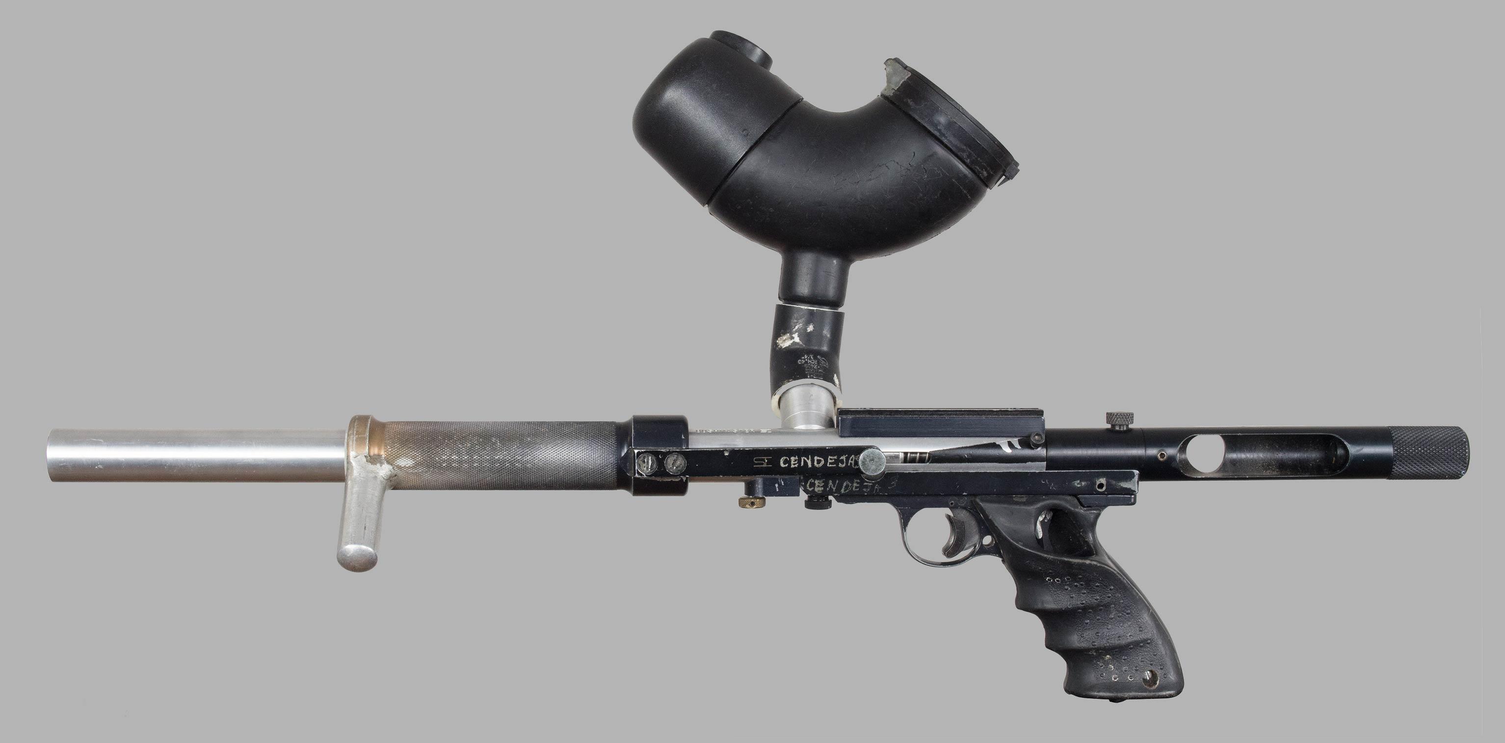 Left side or Rick Cendejas' 1988/89 Line SI Bushmaster.