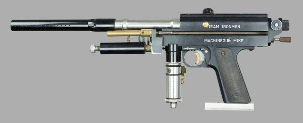 Left side of Machine Gun Mike's Autococker, c.1991/92.